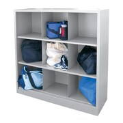 "Sandusky® 52""H x 46""W x 18""D Steel Cubby Storage Organizer, 9 Compartment,  Dove Gray"
