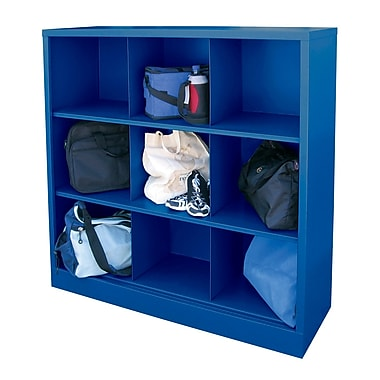 Sandusky® 52in.H x 46in.W x 18in.D Steel Cubby Storage Organizer, 9 Compartment,  Blue