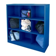 "Sandusky® 52""H x 46""W x 18""D Steel Cubby Storage Organizer, 9 Compartment,  Blue"