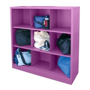"Sandusky® 52""H x 46""W x 18""D Steel Cubby Storage Organizer, 9 Compartment,  Purple"