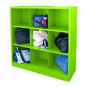 "Sandusky® 52""H x 46""W x 18""D Steel Cubby Storage Organizer, 9 Compartment,  Electric Green"