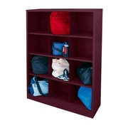 "Sandusky® 66""H x 46""W x 18""D Steel Cubby Storage Organizer, 12 Compartment, Burgundy"