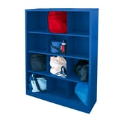 "Sandusky® 66""H x 46""W x 18""D Steel Cubby Storage Organizer, 12 Compartment, Blue"