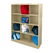 "Sandusky® 66""H x 46""W x 18""D Steel Cubby Storage Organizer, 12 Compartment, Putty"