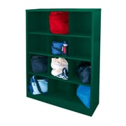 "Sandusky® 66""H x 46""W x 18""D Steel Cubby Storage Organizer, 12 Compartment, Forest Green"