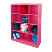 "Sandusky® 66""H x 46""W x 18""D Steel Cubby Storage Organizer, 12 Compartment, Pink"