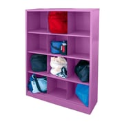 "Sandusky® 66""H x 46""W x 18""D Steel Cubby Storage Organizer, 12 Compartment, Purple"