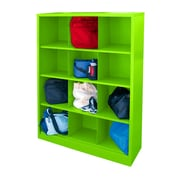 "Sandusky® 66""H x 46""W x 18""D Steel Cubby Storage Organizer, 12 Compartment, Electric Green"