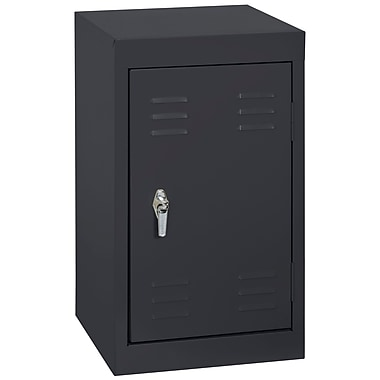 Sandusky® 24in.H x 15in.W x 15in.D Steel Single Tier Mini Locker, Black