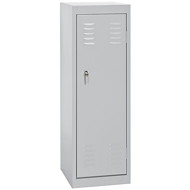 Sandusky® 48in.H x 15in.W x 15in.D Steel Single Tier Locker, Dove Gray
