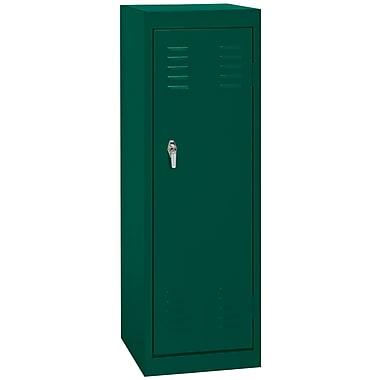 Sandusky® 48in.H x 15in.W x 15in.D Steel Single Tier Locker, Forest Green