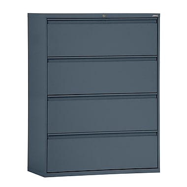 Sandusky® 800 Series 53 1/4in.H x 30in.W x 19 1/4in.D Steel Full Pull Lateral File, 4 Drawer, Charcoal