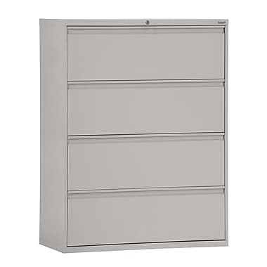 Sandusky® 800 Series 53 1/4in.H x 36in.W x 19 1/4in.D Steel Full Pull Lateral File, 4 Drawer, Dove Gray