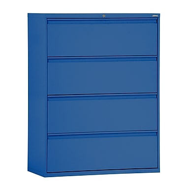 Sandusky® 800 Series 53 1/4in.H x 30in.W x 19 1/4in.D Steel Full Pull Lateral File, 4 Drawer, Blue