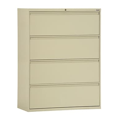 Sandusky® 800 Series 53 1/4in.H x 36in.W x 19 1/4in.D Steel Full Pull Lateral File, 4 Drawer, Putty