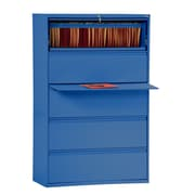 "Sandusky® 800 Series 66 3/8""H x 42""W x 19 1/4""D Steel Full Pull Lateral File, 5 Drawer, Blue"