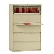 "Sandusky® 800 Series 66 3/8""H x 42""W x 19 1/4""D Steel Full Pull Lateral File, 5 Drawer, Putty"