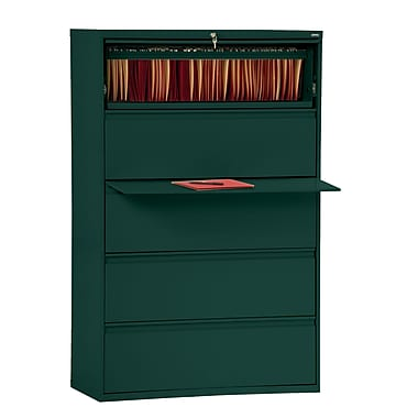 Sandusky 800 Series 5 Drawer Lateral File, Green,Letter/Legal, 42''W (LF8F425-08)
