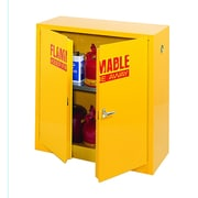 "Sandusky® 44""H x 43""W x 18""D Steel Counter Height Flammable Safety Cabinet, Yellow"