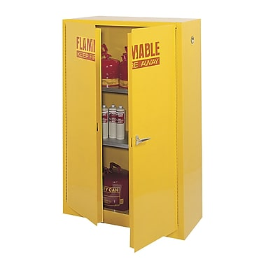 Sandusky® 65in.H x 43in.W x 18in.D Steel Flammable Safety Cabinet, Yellow