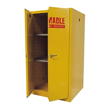 Sandusky® 65in.H x 34in.W x 34in.D Steel Flammable Safety Cabinet, Yellow