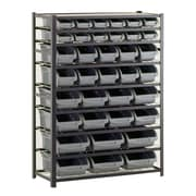 "Sandusky® 57""H x 44""W x 16""D Steel 36 Storage Bin Shelving Unit, Black"