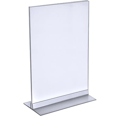 Azar Displays T-Strip Sign Holder, Clear Acylic, 14