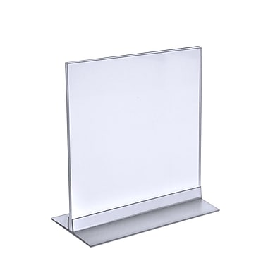 Azar Displays T-Strip Sign Holder, Clear Acylic, 10