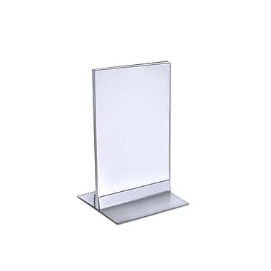 7in. x 5in. Vertical/Horizontal T-Strip Acrylic Sign Holder