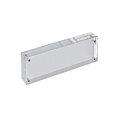 3in. x 11in. Vertical/Horizontal Block Acrylic Sign Holder, Clear