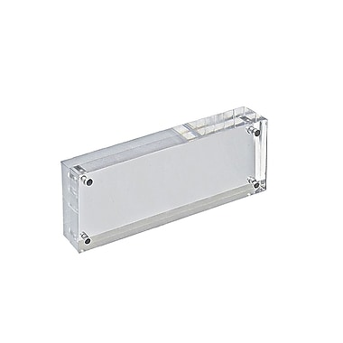 3in. x 8in. Vertical/Horizontal Block Acrylic Sign Holder, Clear