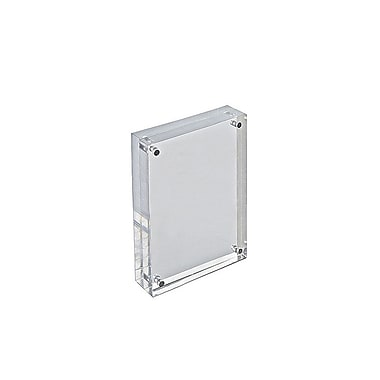 6in. x 4in. Vertical/Horizontal Block Acrylic Sign Holder, Clear