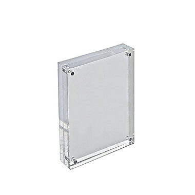 7in. x 5in. Vertical/Horizontal Block Acrylic Sign Holder, Clear
