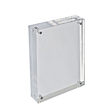 5 1/2in. x 8 1/2in. Vertical/Horizontal Block Acrylic Sign Holder, Clear