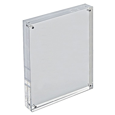 11in. x 8 1/2in. Vertical/Horizontal Block Acrylic Sign Holder, Clear