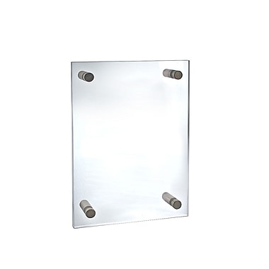 Azar Displays Acrylic Standoff Sign Holder, 18