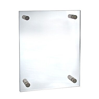 Azar Acrylic Standoff Sign Holder, Clear Acrylic, 21