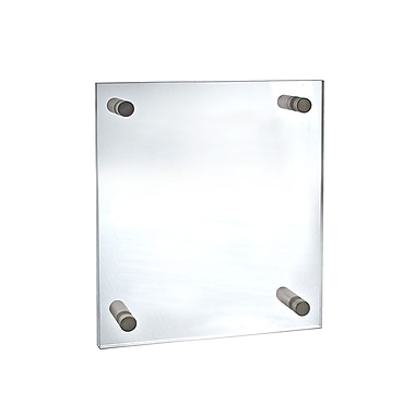 11in. x 14in. Standoff Acrylic Sign Holder With Caps, Clear