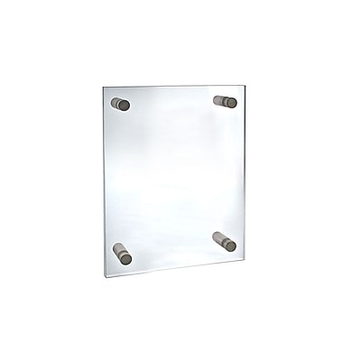 11in. x 8 1/2in. Standoff Acrylic Sign Holder With Caps, Clear