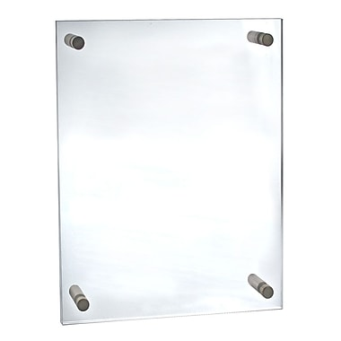 17in. x 22in. Standoff Acrylic Sign Holder With Caps, Clear