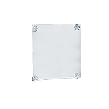 14in. x 8 1/2in. Acrylic Sign Holder With Suction Cups, Clear