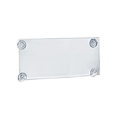 5 1/2in. x 8 1/2in. Acrylic Sign Holder With Suction Cups, Clear