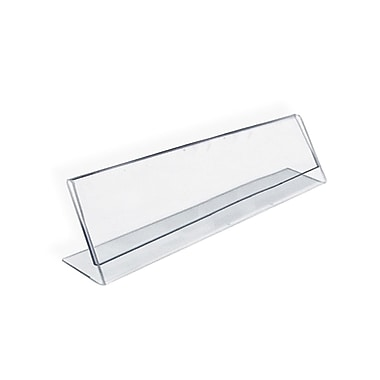 Azar Acrylic Horizontal Name Plate Sign Holder, Clear Acrylic, 2