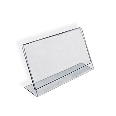 11in. x 14in. Horizontal Slanted L-Shape Acrylic Acrylic Sign Holder