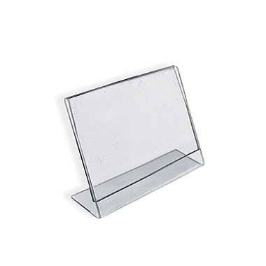 2in. x 3in. Horizontal Slanted L-Shape Acrylic Acrylic Sign Holder