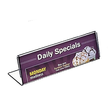 Azar Acrylic Horizontal Name Plate Sign Holder, 2.5