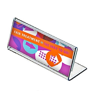 3 1/2in. x 8 1/2in. Horizontal Nameplate Acrylic Acrylic Sign Holder
