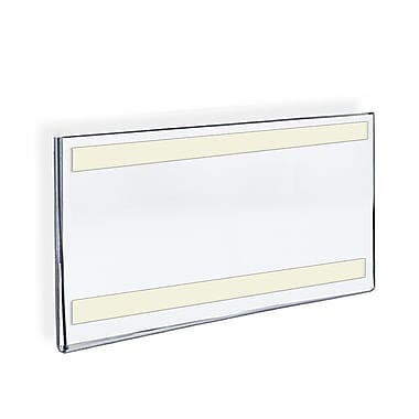 8 1/2in. x 14in. Horizontal Wall Mount Acrylic Sign Holder With Adhesive Tape, Clear