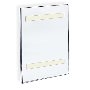 14in. x 8 1/2in. Vertical Wall Mount Acrylic Sign Holder With Adhesive Tape, Clear