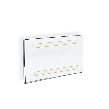 7in. x 11in. Horizontal Wall Mount Acrylic Sign Holder With Adhesive Tape, Clear
